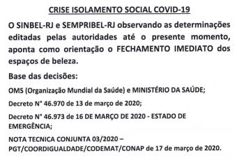 Crise isolamento social COVID-19 1